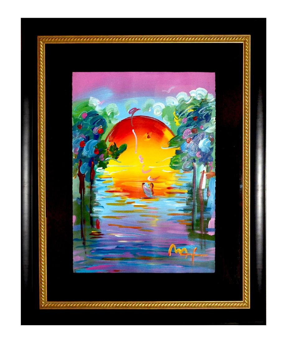 PETER MAX A BETTER WORLD MIXED MEDIA LARGE FORMAT - 2