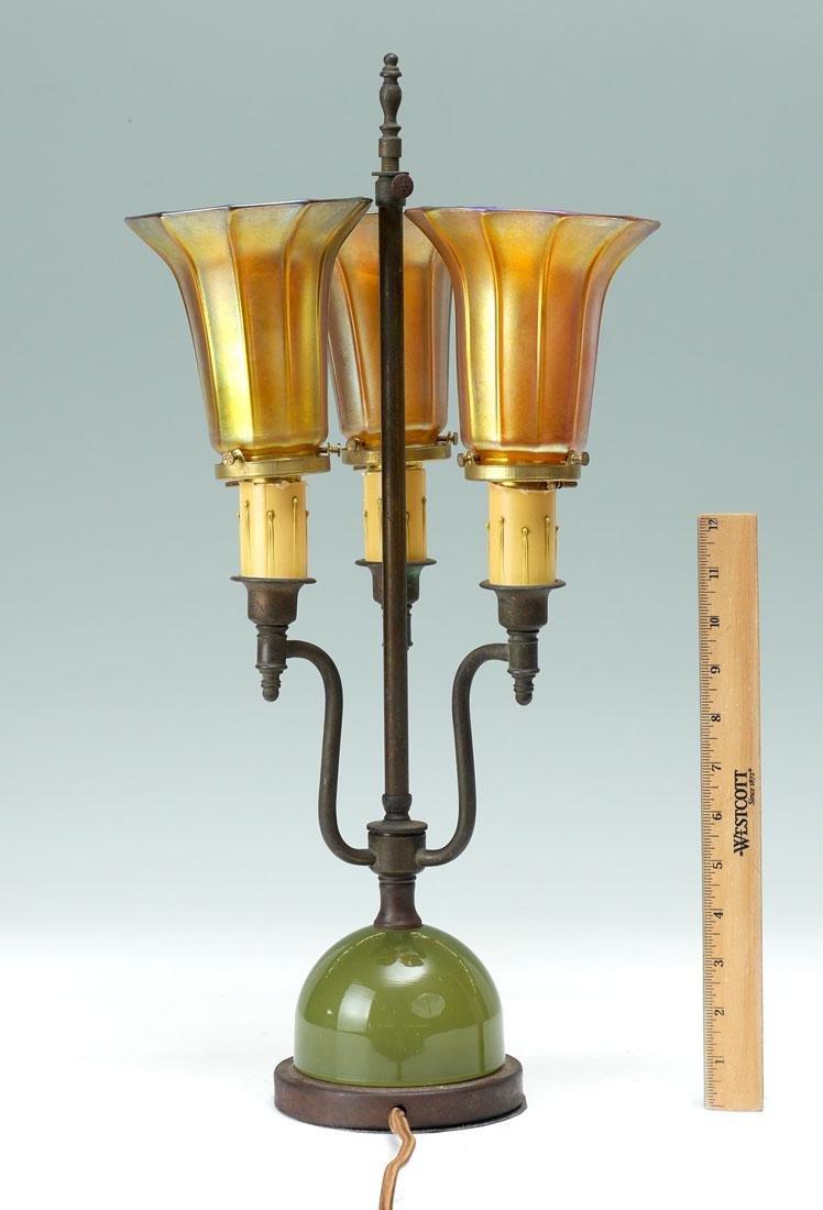 3 IRIDESCENT QUEZAL SHADE LAMP - 6