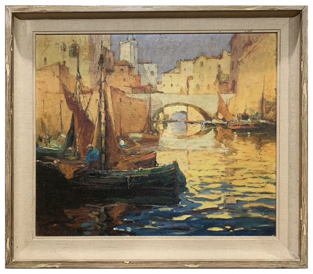 GEORGE THOMPSON PRITCHARD VENETIAN CANAL PAINTING - 2