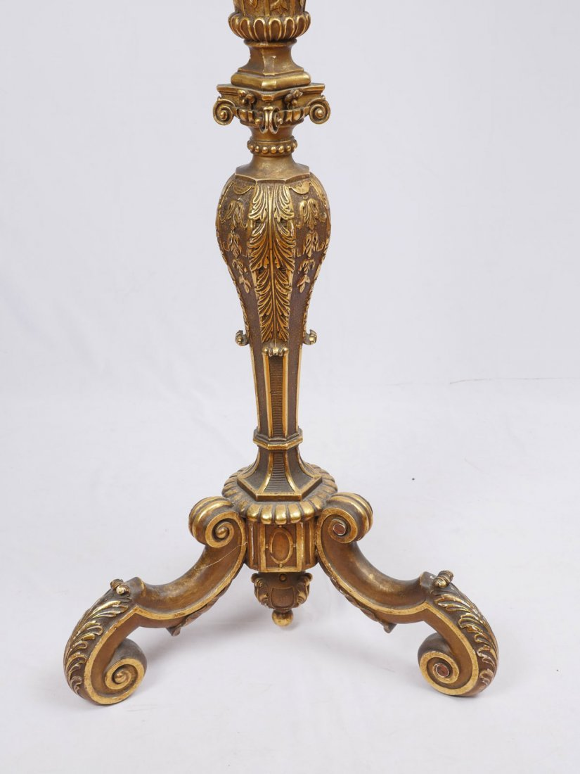 CARVED GILT WOOD CANDLESTAND - 3