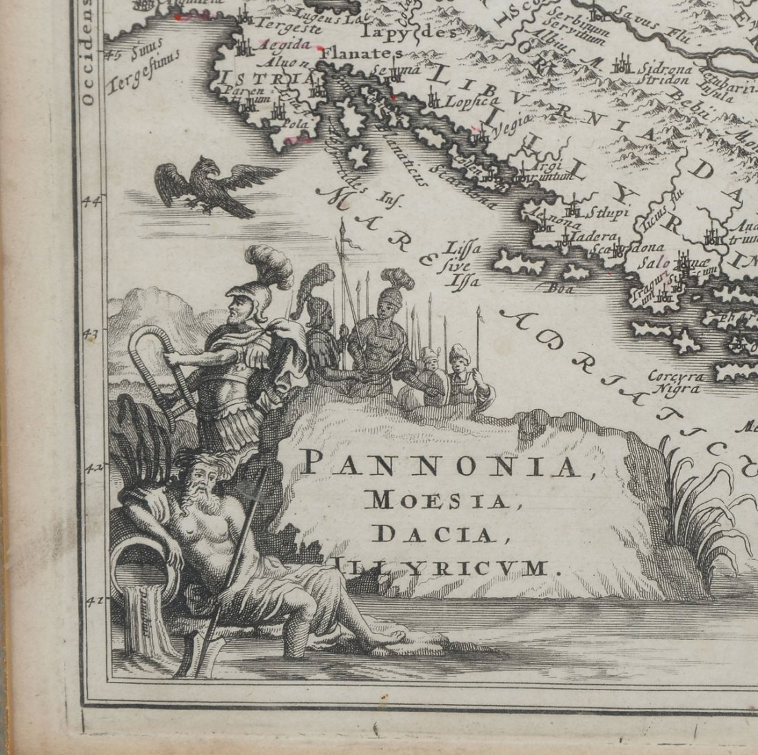 18TH CENTURY MAP OF PANNONIA - 3