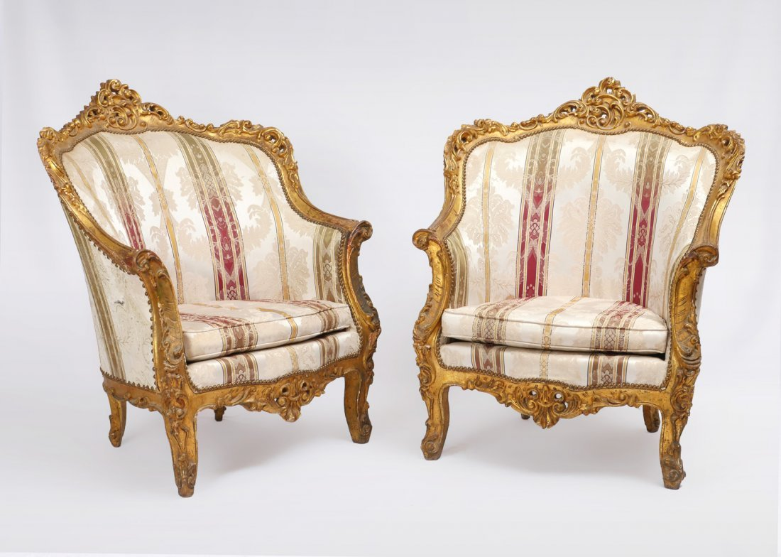 PAIR OF CARVED ITALIAN SIDE CHAIRS