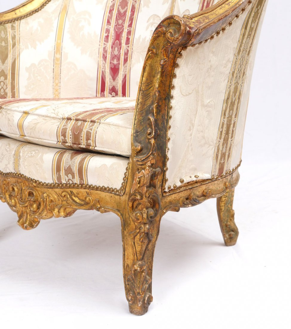 PAIR OF CARVED ITALIAN SIDE CHAIRS - 3