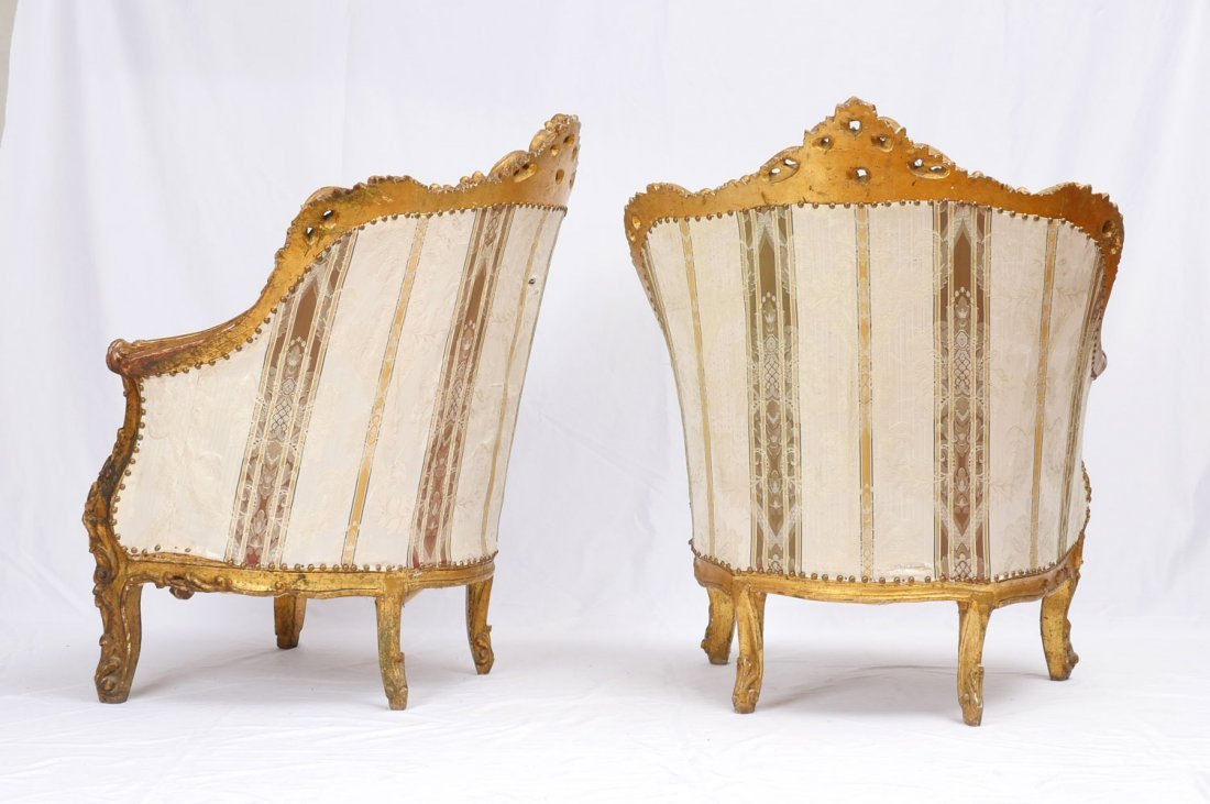 PAIR OF CARVED ITALIAN SIDE CHAIRS - 4