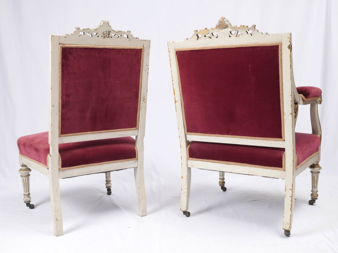 PAIR OF LOUIS XVI SIDE CHAIRS - 3
