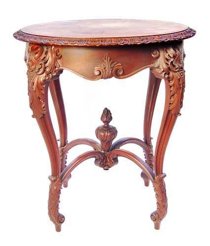 7: CARVED MAHOGANY PARLOR TABLE