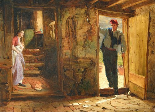 19: G.E. HICKS PAINTING FROM TENNYSON'S ENOCH ARDEN
