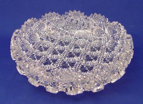 1: J HOARE AMERICAN BRILLIANT PERIOD CUT GLASS BOWL