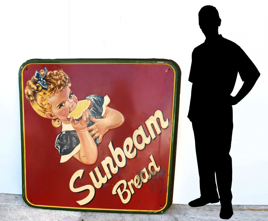 LARGE SUNBEAM BREAD ADVERTISING SIGN