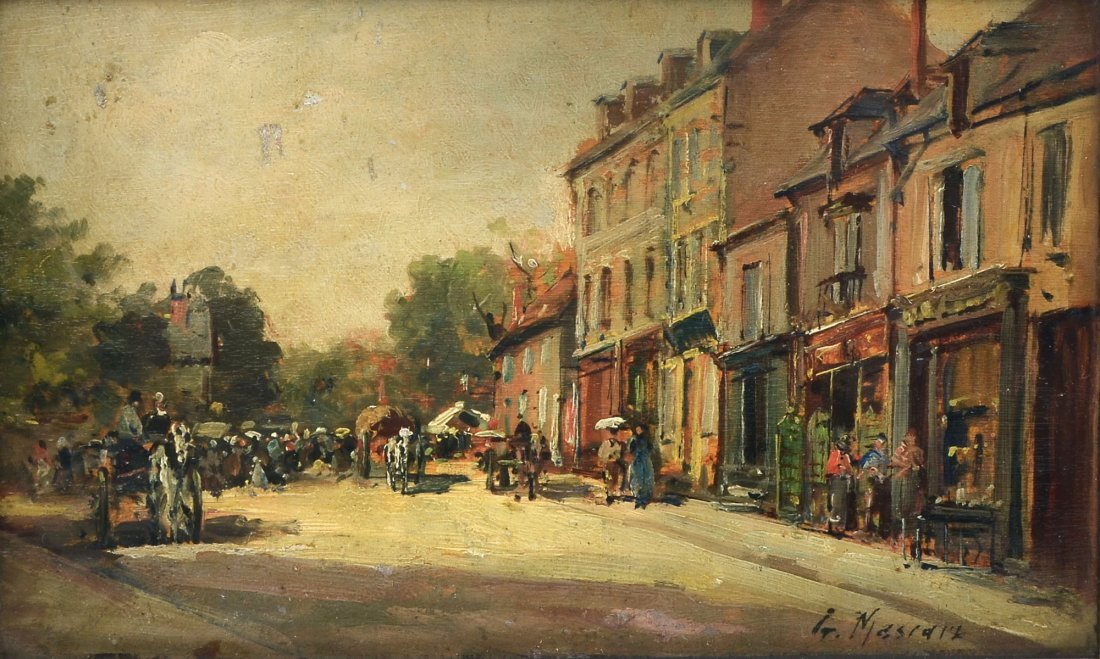 GUSTAVE MASCART OIL PAINTING