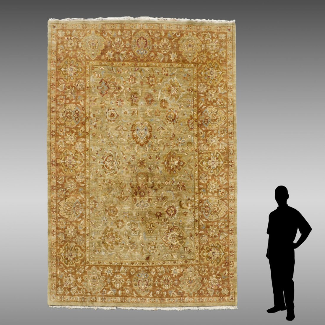 """TURKISH HAND KNOTTED WOOL RUG, 8'8"""" X 12'5"""""""