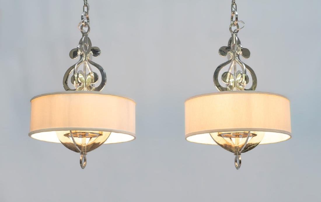 NICKLE BRASS PENDANT MODERN DRUM LIGHTS