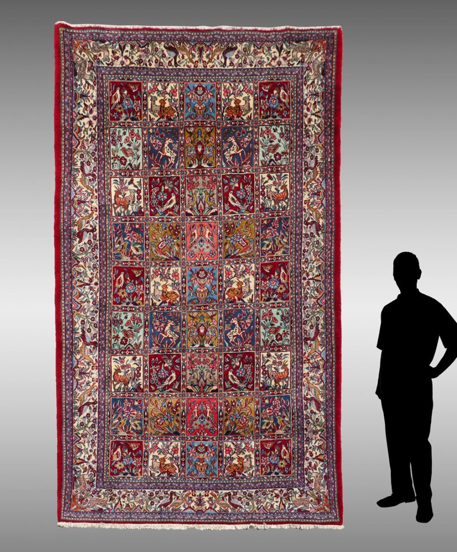 "PERSIAN HAND KNOTTED WOOL RUG, 6""2' X 10'"