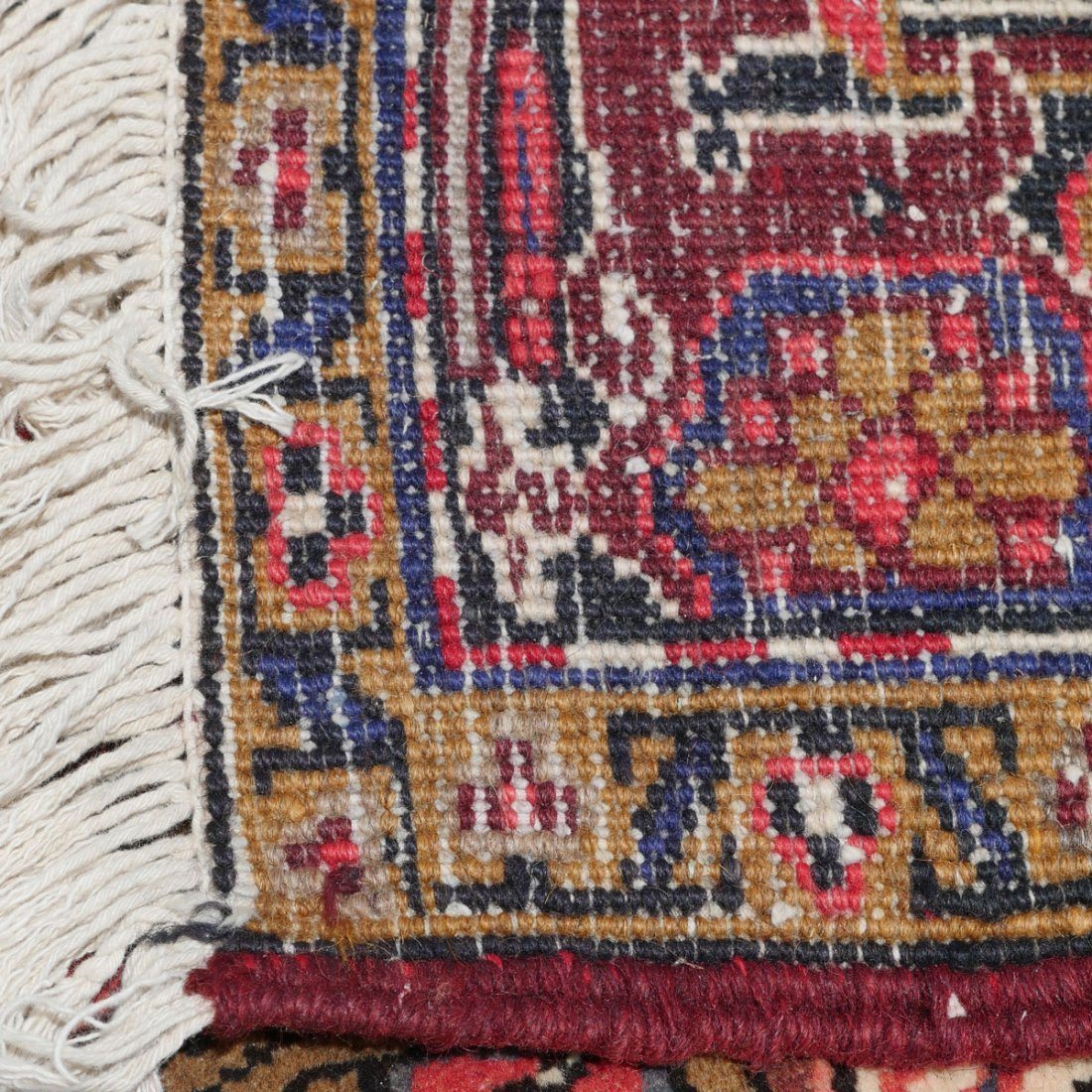"PERSIAN HERIZ HAND KNOTTED WOOL RUG, 6'11"" X 9'11"" - 2"