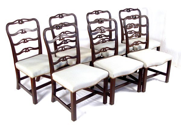 1010: 7 KITTINGER COLONIAL WILLIAMSBURG DINING CHAIRS