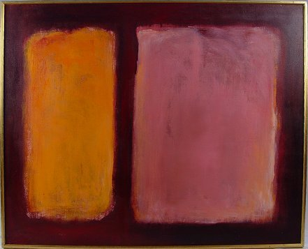 1091: LARGE ABSTRACT PAINTING LIKE ROTHKO