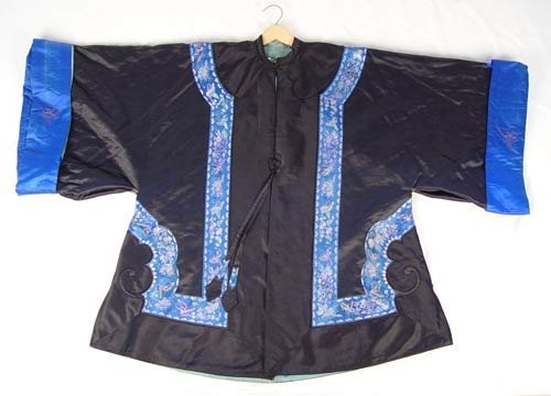 1219A: VINTAGE SILK EMBROIDERED CHINESE COATS  & SKIRT