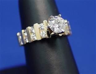 2CTW LADY'S DIAMOND RING 1CT H I1 14K SZ 7