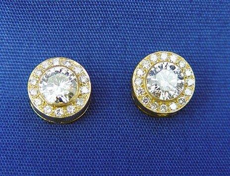 19: 2.60CTW DIAMOND STUD EARRINGS 18K