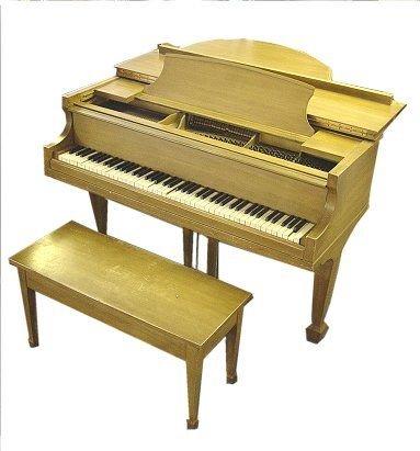243: WINTER & CO BABY GRAND PIANO