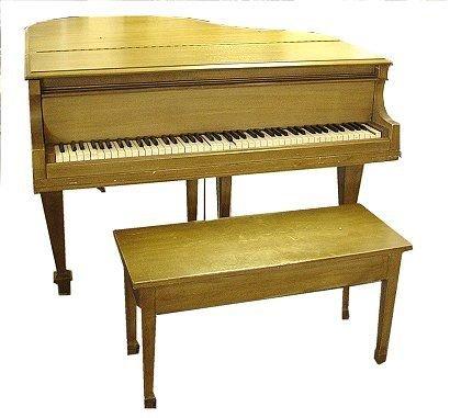 243: WINTER & CO BABY GRAND PIANO - 2
