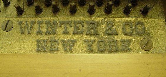243: WINTER & CO BABY GRAND PIANO - 5