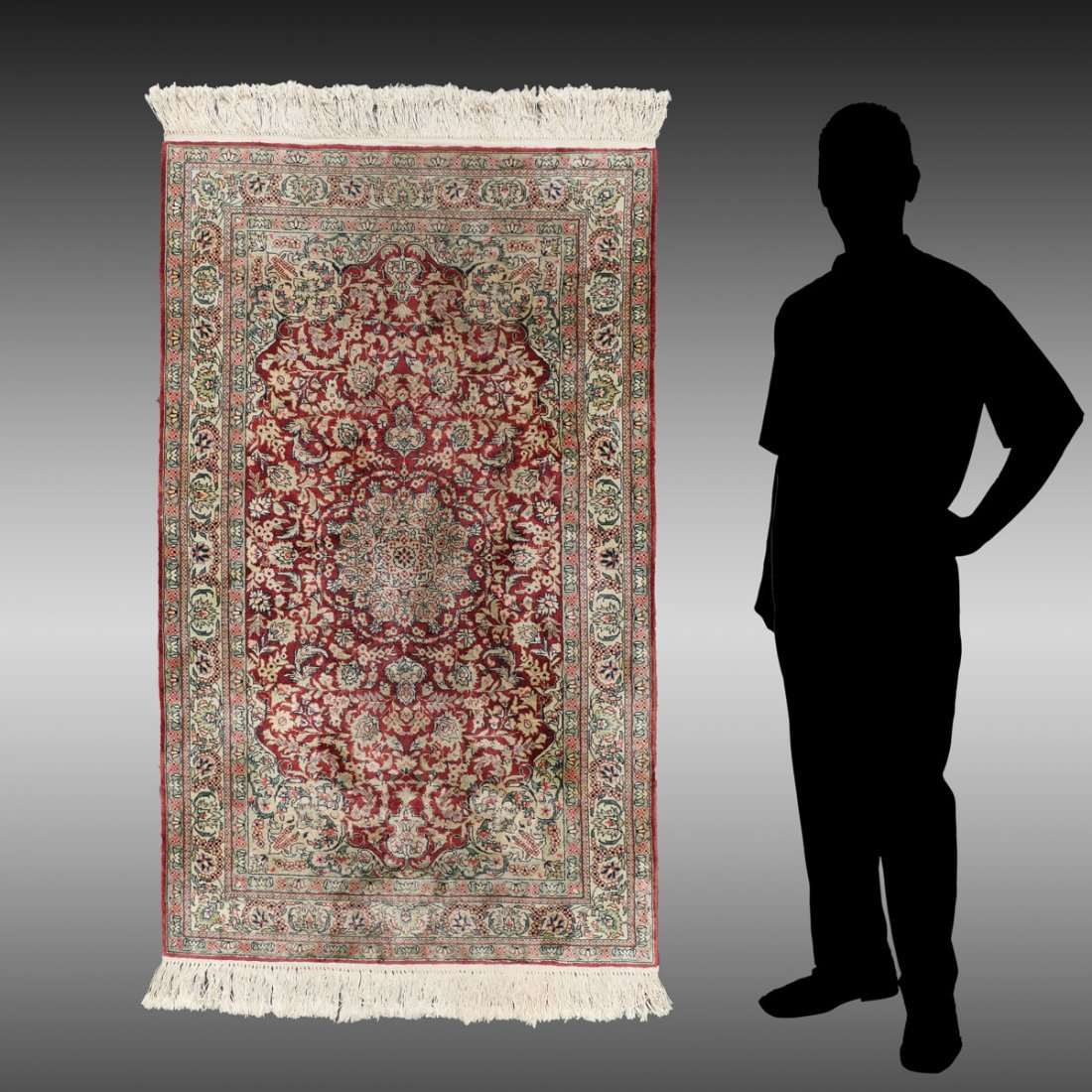 PERSIAN HK SILK RUG, 3' x 4'10''
