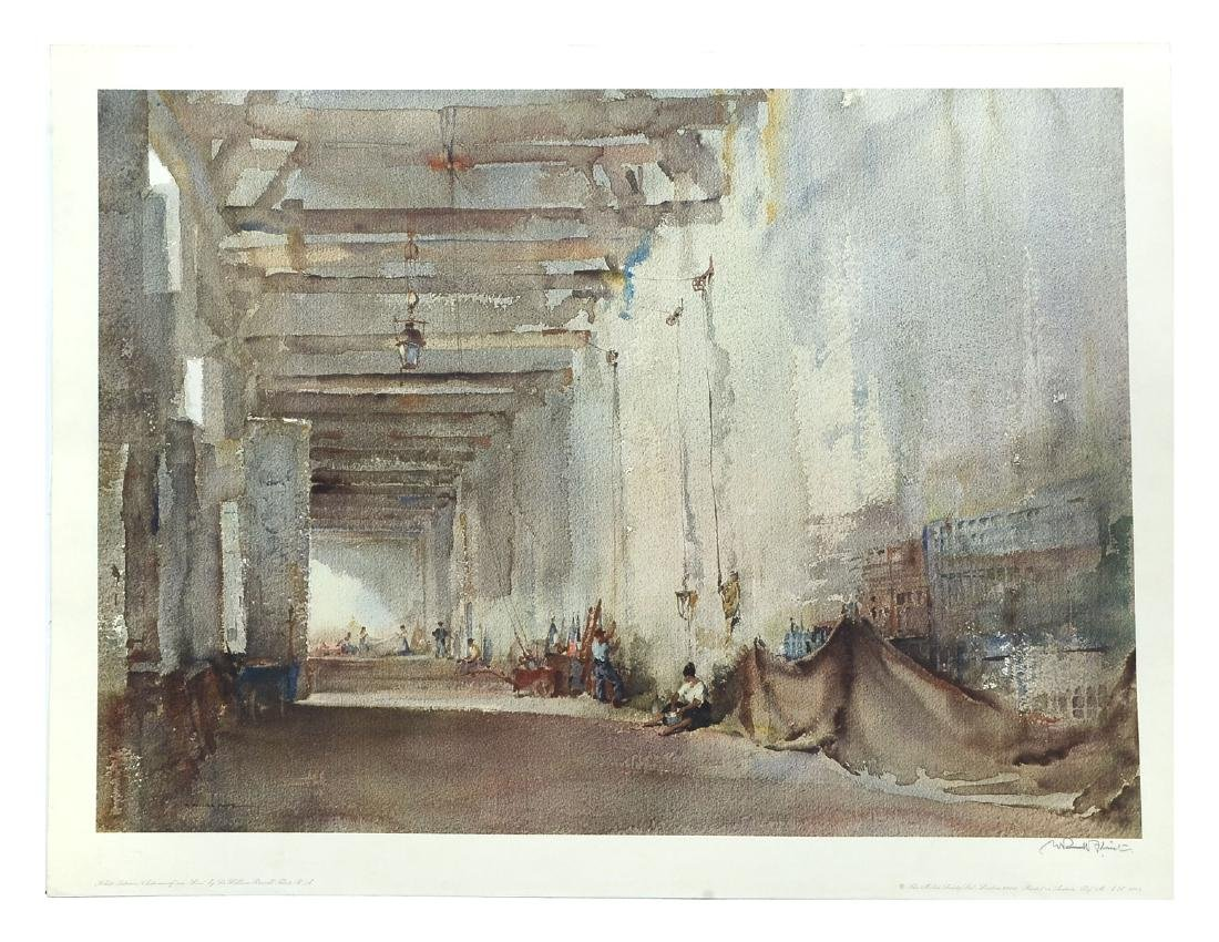 SIR WILLIAM RUSSELL FLINT COLLOTYPE WHITE INTERIOR