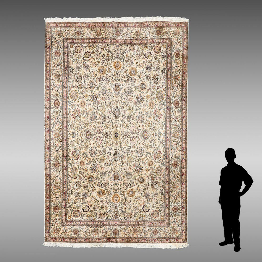 """PERSIAN HAND KNOTTED WOOL RUG, 8'10"""" X 12'3"""""""