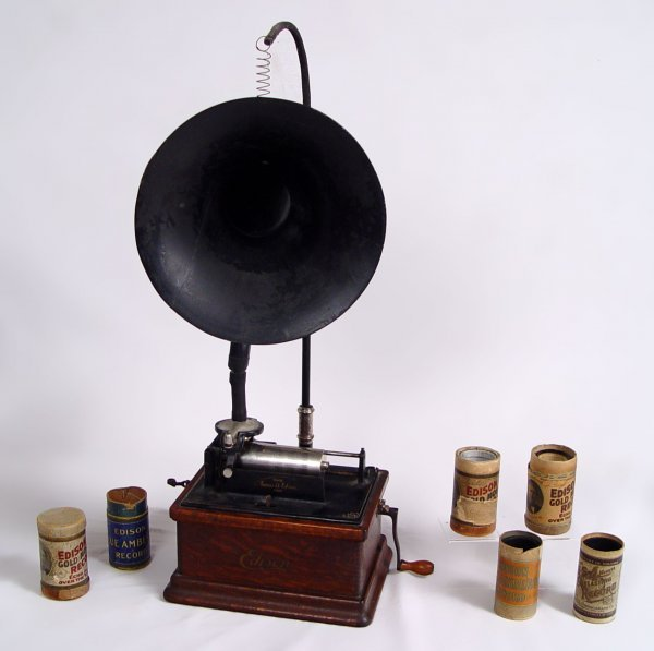 6: EDISON FIRESIDE MODEL B PHONOGRAPH WITH HORN