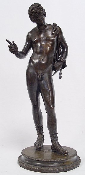 18: GRAND TOUR BRONZE OF NARCISSUS SIGNED AMODIO