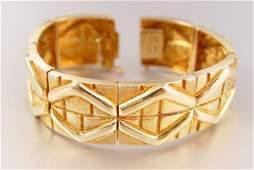 46 BURLE MARX 18K GOLD BRACELET 622 grams