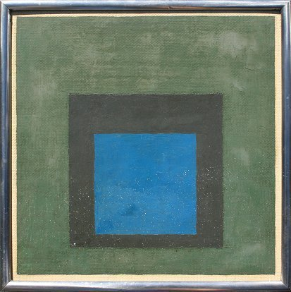 166: IMPORTANT JOSEF ALBERS EXHIBITED PAINTING
