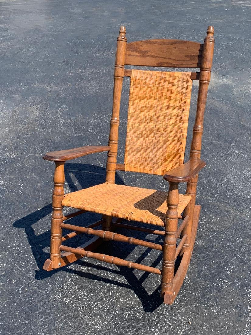 BRUMBY CANED PORCH ROCKING CHAIR