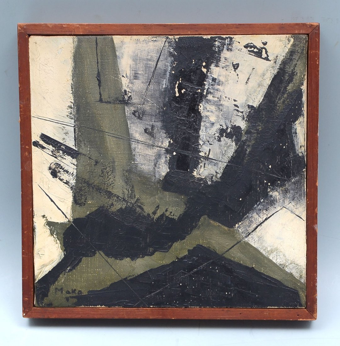 MAKA STRAUSS ABSTRACT MIDCENTURY PAINTING