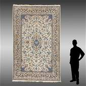 SINO PERSIAN HAND KNOTTED WOOL RUG, 6