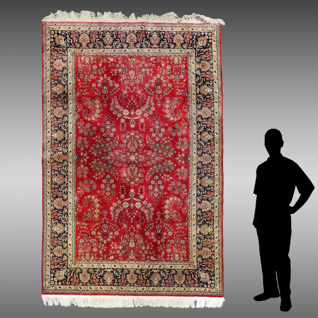 FINELY HAND KNOTTED WOOL PERSIAN RUG, 5