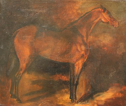 1010: EARLY HORSE PAINTING STYLE OF GERICAULT