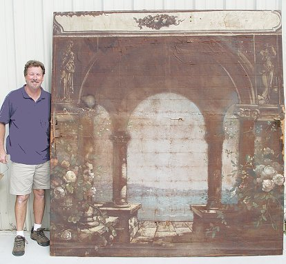1015: STAGE BACKDROP 18TH? CENTURY PAINTING