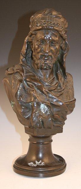 1021: SPELTER ORIENTALIST ARAB BUST BOESE