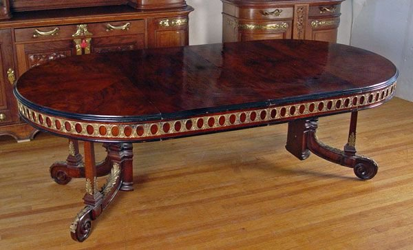 1016:  ORNATE  FRENCH  DINING  CONFERENCE TABLE 8ft