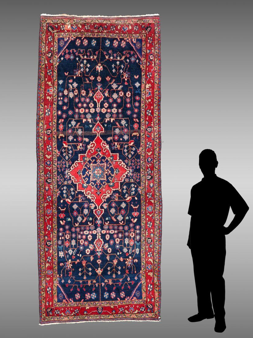 SEMI-ANITQUE PERSIAN HK WOOL RUNNER, 4