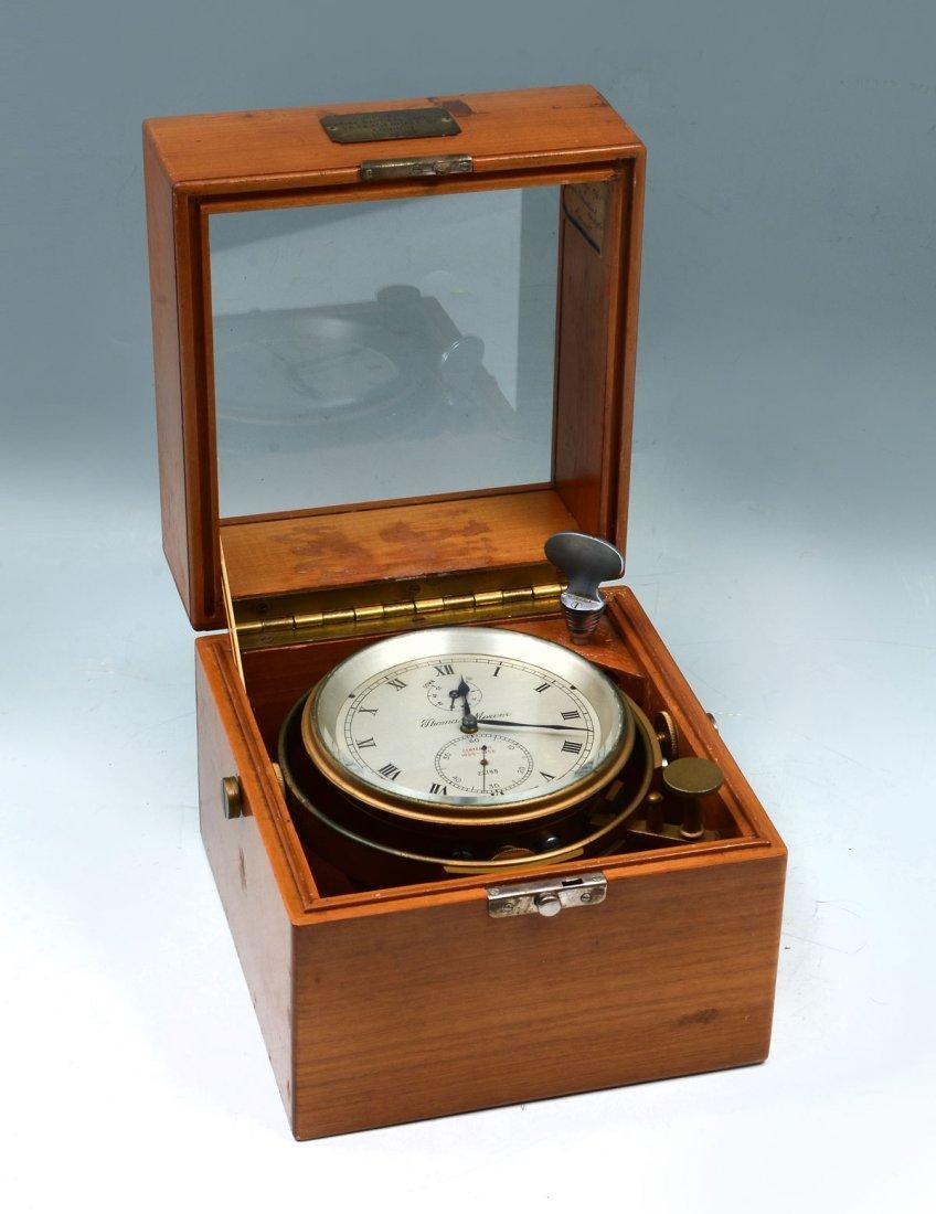 THOMAS MERCER NAUTICAL CHRONOMETER IN ORIGINAL BOX
