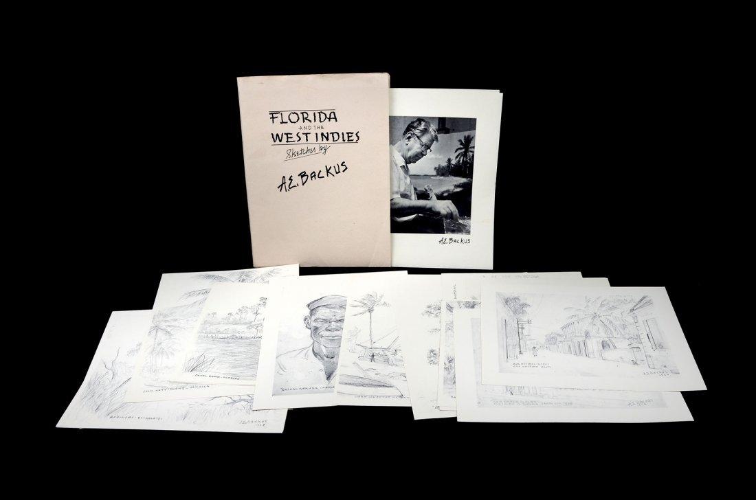 BACKUS LITHOGRAPH PORTFOLIO FLORIDA & WEST INDIES