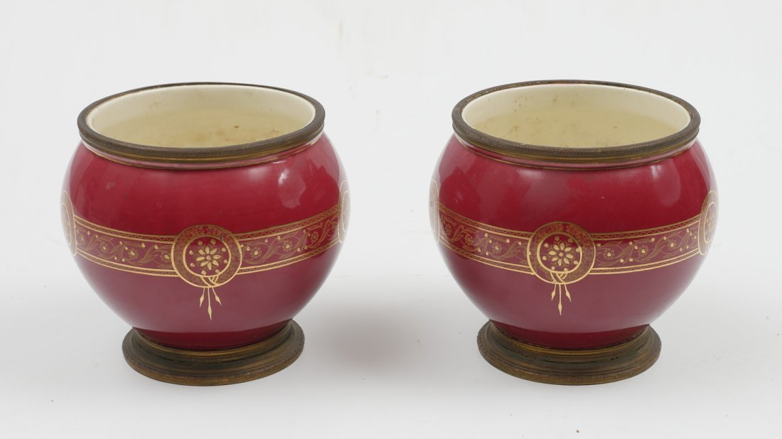 PAIR OF BOCH FRERES CACHE POTS