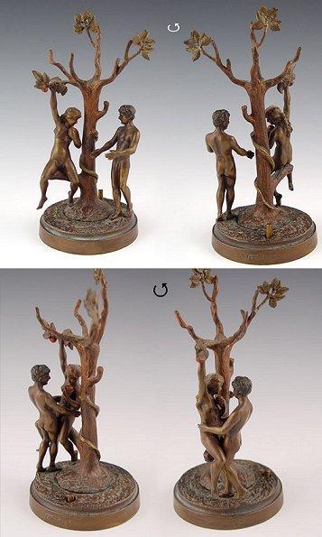 5: ADAM & EVE EROTIC BRONZE SIGNED BERGMAN