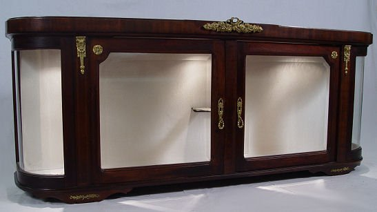 8: COUNTER TOP OR WALL MOUNT FRENCH DISPLAY CABINET