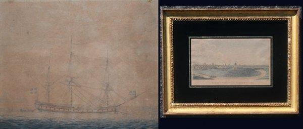 12: 2 PC 19TH CENTURY ART LOT