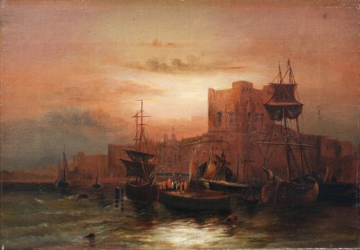22: MARITIME PAINTING SIGNED ACHENBACH