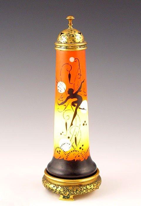 4: DEVILBISS ART DECO PERFUME LAMP fairy silhouette